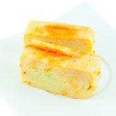 Tamago nigiri yaki is sushi using an egg in a plate — Stock Photo