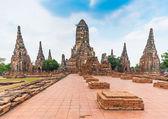 Ruins of ancient Chaiwattanaram temple in Ayuttaya, Thailand — Stock Photo