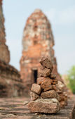 Old post and brick wall of historical architecture — Photo