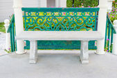 Concrete bench in the pavilion at garden — Foto Stock