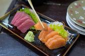 Fresh raw Japanese food Sushi and Sashimi - japanese cuisine — Stock Photo