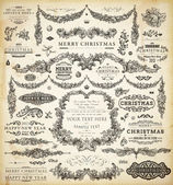 Christmas decoration collection — Vettoriale Stock