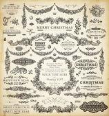 Weihnachtsdekoration sammlung — Stockvektor