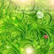 Vector de stock : Green background