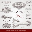 Set of vintage labels — Stock Vector #14478369