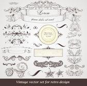 Lot d'étiquettes vintage — Vecteur