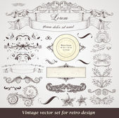 Set of vintage labels — Vecteur