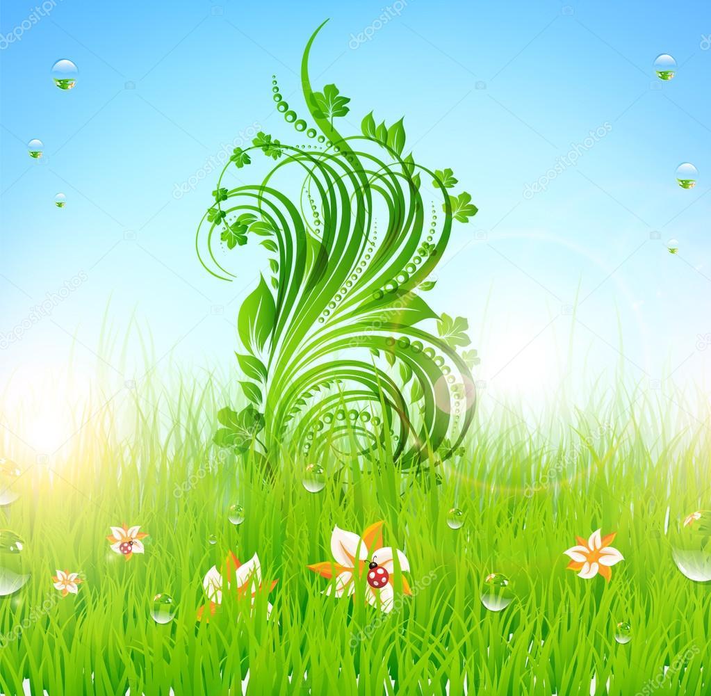 春天背景设计 — 矢量图片作者