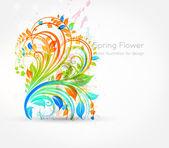 Spring flower background design — Stock Vector