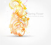 Spring flower background design — Stock Vector