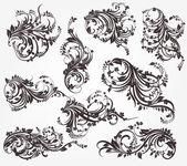 Vintage patterns for design. — Stock Vector