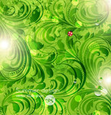 Green background — Stock Vector