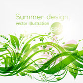 Abstract floral background with place for your text — Stockvector