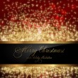Stock vektor: Red abstract Christmas background