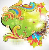 Grunge summer floral Background for design — Stock Vector