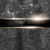 Seamless Wallpaper, Vector Background, Silk. Black — Stockvektor