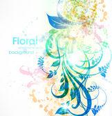 Elementi di design floreale estiva con il sole splendere — Vettoriale Stock