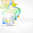 Abstract floral summer background — Stock Vector
