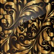 Seamless wallpaper pattern gold, vector. — Stock Vector #14595133