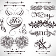 Vector set: calligraphic design elements and page decoration — Stock Vector #14595289