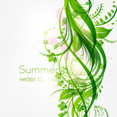 Abstract floral background with place for your text. vector — 图库矢量图片