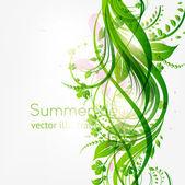 Astratto sfondo floreale con posto per il vostro testo. vector — Vettoriale Stock