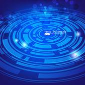 Abstract retro technology circles vector background for business design — Vector de stock