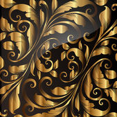 Seamless wallpaper pattern gold, vector. — Vettoriale Stock