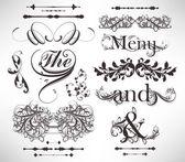 Vector set: kaligrafik tasarım öğeleri ve sayfa dekorasyon — Stok Vektör