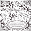 Stockvector : Vector set: calligraphic design elements and page decoration