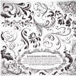 图库矢量图片: Vector set: calligraphic design elements and page decoration