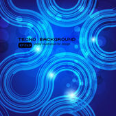 Abstracte retro technologie cirkels vector achtergrond. — Stockvector