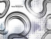 Résumé de la technologie rétro cercles vecteur fond. — Vecteur
