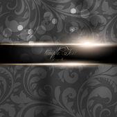 Seamless Wallpaper, Vector Background, Silk. Black — Stock Vector