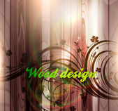 Floral spring design elements. Flower abstract wood background for retro design. Vector — 图库矢量图片