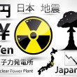 Stock Vector: Set of Japanese disaster.