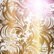 Seamless wallpaper pattern gold, vector — Stock Vector #14634665