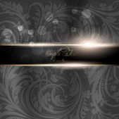 Seamless Wallpaper, Vector Background, Silk. Black — Vettoriale Stock
