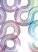 Abstratos tecnologia retro círculos de fundo vector. — Vetorial Stock