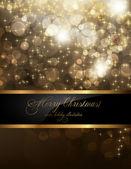 Элегантный Рождественский фон с местом для новый год текст приглашения — Cтоковый вектор