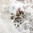 Hand Drawn floral background with flowers, greeting vector card for retro summer design. - 图库矢量图片