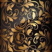 Or motif de papier peint sans soudure, vector — Vecteur