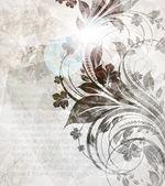 手绘花卉背景的鲜花,复古夏季设计贺卡矢量. — 图库矢量图片