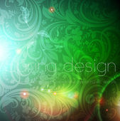 Seamless wallpaper pattern, green — Vector de stock