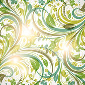 Seamless wallpaper with floral ornament with leafs and flowers for vintage design — Stock Vector