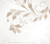 Hand dras floral bakgrund med blommor, hälsning vektor kort för retro sommar design. — Stockvektor