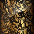 Seamless wallpaper pattern gold, vector - Vektorgrafik