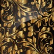 Seamless wallpaper pattern gold, vector — 图库矢量图片