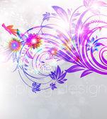 Progetto sfondo floreale con ornamento fiore per banner estate. vector — Vettoriale Stock