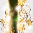 Summer vector golden floral banner for vintage design - Imagen vectorial